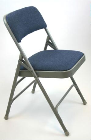 Steel Folding Chairs Fabric Padded Wholesale Same Day Ship
