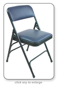 Metal Folding Chair With Vinyl Padding