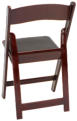 mahogany resin folding chair -back view