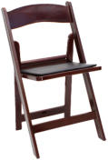 mahogany resin folding chair -front